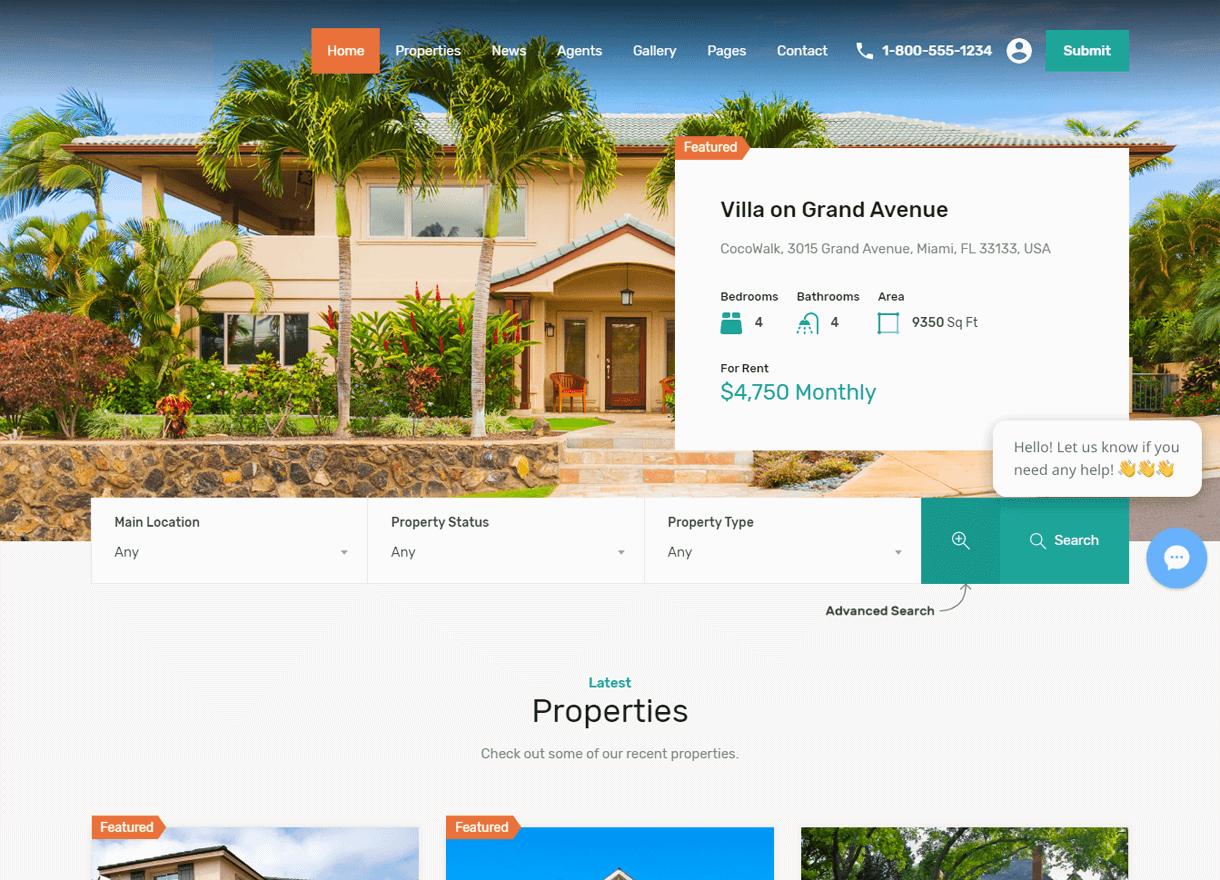 ESSENTIAL GUIDE TO THE BEST REAL ESTATE WEBSITE DESIGN - search bar